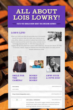 All About Lois Lowry!