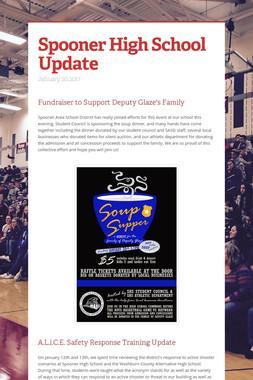 Spooner High School Update