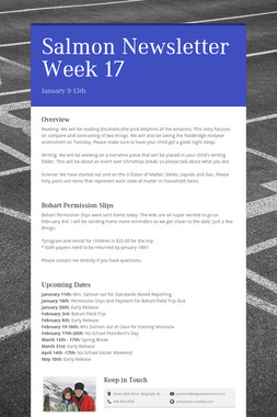 Salmon Newsletter Week 17