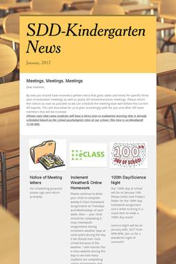 SDD-Kindergarten News