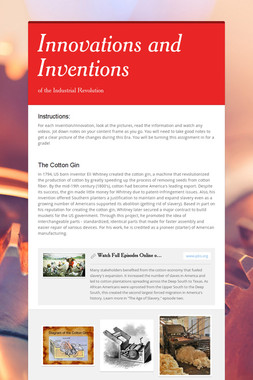Innovations and Inventions