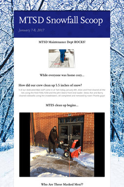 MTSD Snowfall Scoop