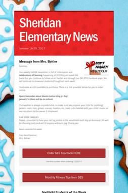 Sheridan Elementary News