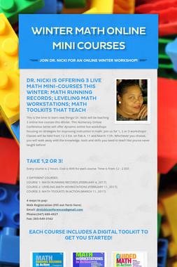 WInter Math Online Mini Courses