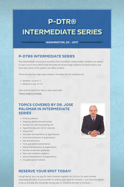 P-DTR® Intermediate Series