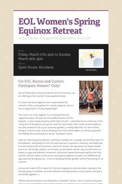 EOL Women's Spring Equinox Retreat