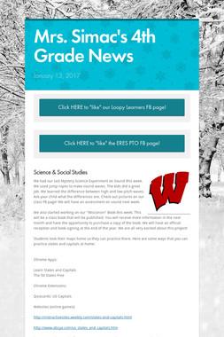 Mrs. Simac's 4th Grade News
