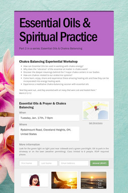 Essential Oils & Spiritual Practice