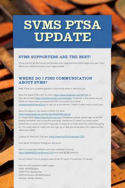 SVMS PTSA Update