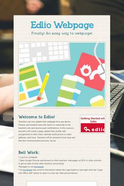 Edlio Webpage