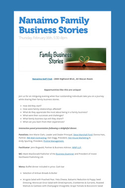 Nanaimo Family Business Stories