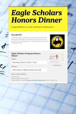 Eagle Scholars Honors Dinner