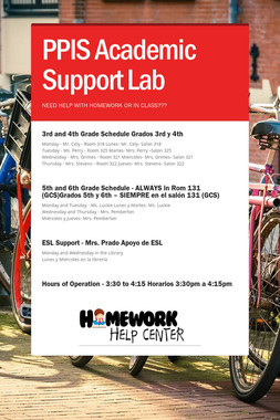 PPIS Academic Support Lab