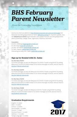 BHS February Parent Newsletter