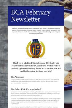 BCA February Newsletter