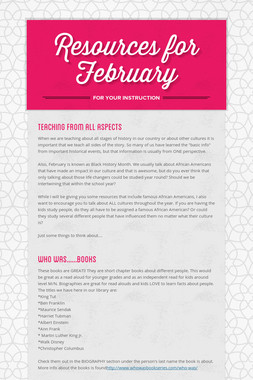 Resources for February