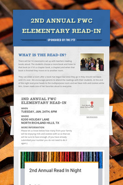 2nd Annual FWC Elementary Read-In