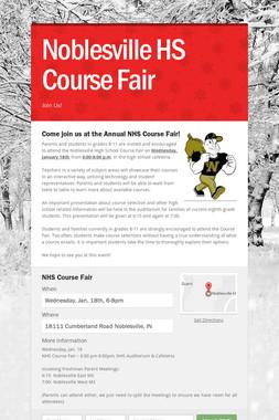 Noblesville HS Course Fair