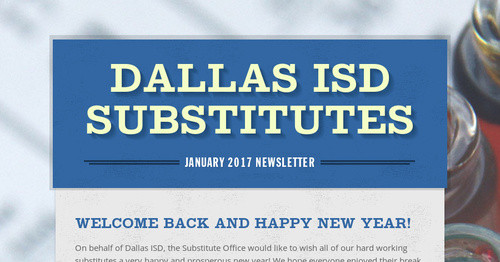 Dallas ISD Substitutes | Smore Newsletters for Education