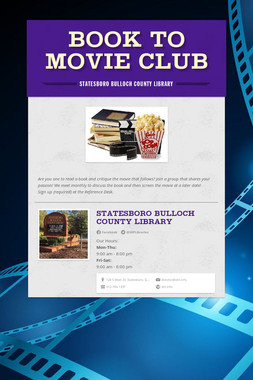 Book to Movie Club