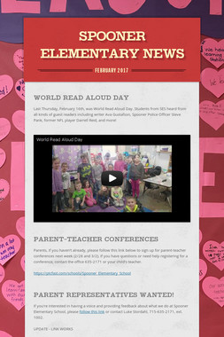 Spooner Elementary News