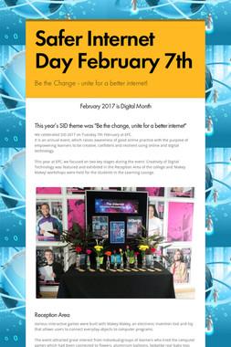 Safer Internet Day February 7th