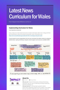 Latest News Curriculum for Wales