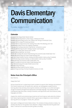 Davis Elementary Communication