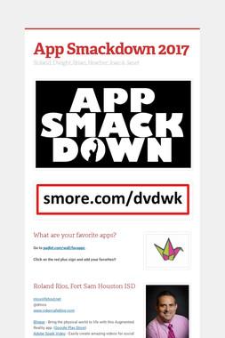 App Smackdown 2017