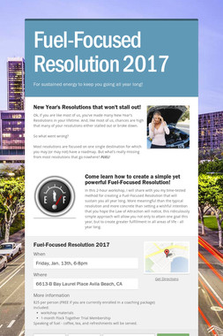 Fuel-Focused Resolution 2017
