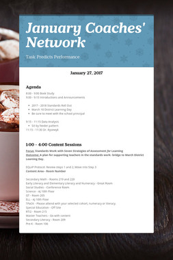 January Coaches' Network