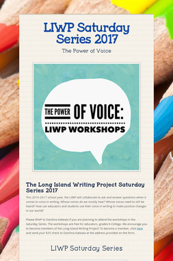 LIWP Saturday Series 2017