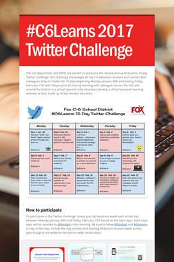 #C6Learns 2017 Twitter Challenge