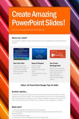 Create Amazing PowerPoint Slides!