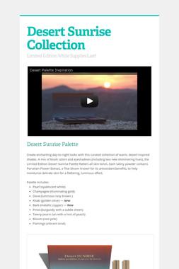 Desert Sunrise Collection