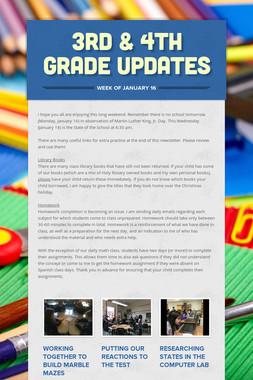 3rd & 4th Grade Updates