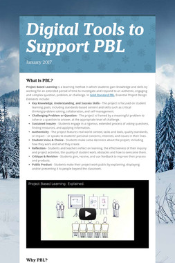 Digital Tools to Support PBL
