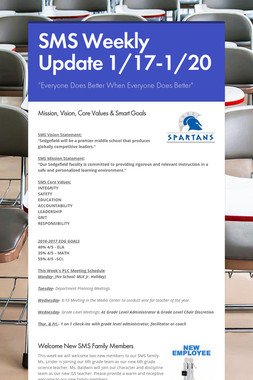 SMS Weekly Update 1/17-1/20