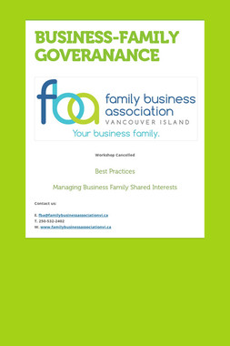 BUSINESS-FAMILY GOVERANANCE