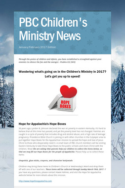 PBC Children's Ministry News