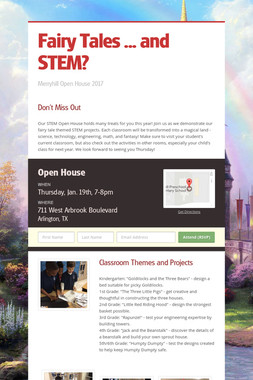 Fairy Tales ... and STEM?