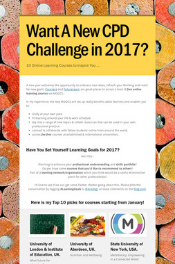 Want A New CPD Challenge in 2017?