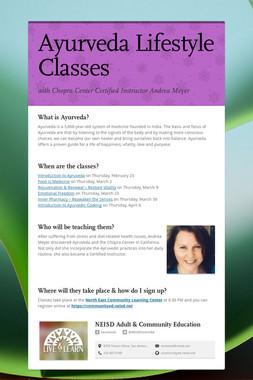 Ayurveda Lifestyle Classes