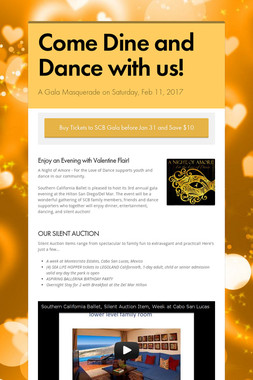 Come Dine and Dance with us!