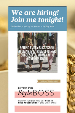 We are hiring! Join me tonight!