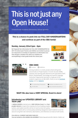 This is not just any Open House!