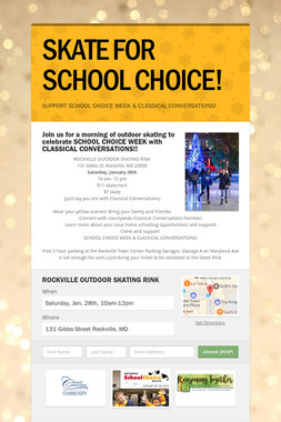 SKATE FOR SCHOOL CHOICE!