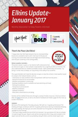 Elkins Update- January 2017