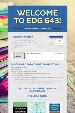 Welcome to EDG 643!
