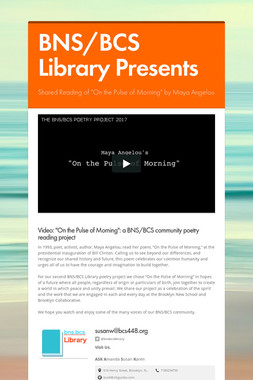 BNS/BCS Library Presents